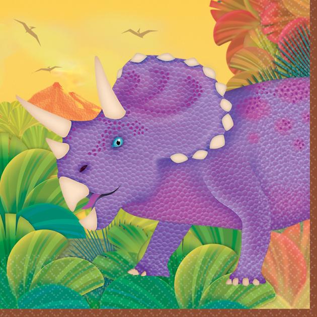 Χαρτοπετσέτες γλυκού  Δεινόσαυροι 16τεμ.