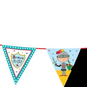 Γιρλάντα Τρίγωνα Σημαιάκια Ιππότης 3,6m 1τεμ