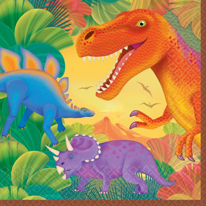 Χαρτοπετσέτες φαγητού Δεινόσαυροι 16τεμ.