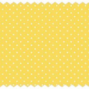 Tante Ema ύφασμα βαμβακερό Sugar Flowers 50x65εκ. κίτρινο-λευκό πουά 1τεμ.