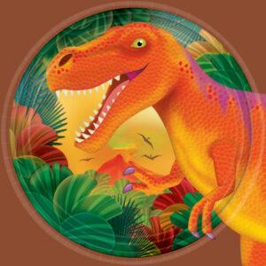 Πιάτα γλυκού 17,7εκ. Δεινόσαυροι  8τεμ.