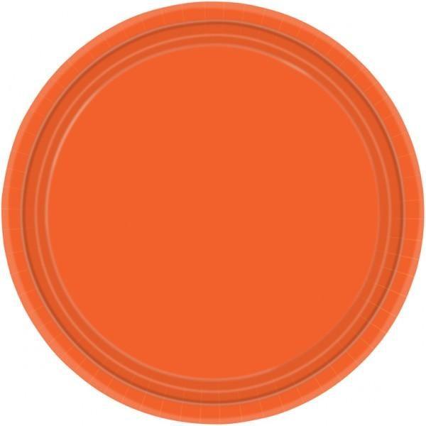 Πιάτα φαγητού Χάρτινα 22,8εκ Orange Peel