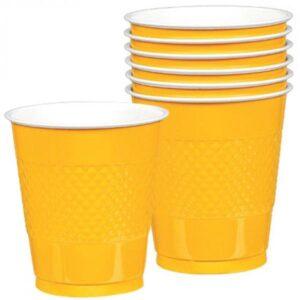 Ποτήρια πλαστικά 366ml Κίτρινα 10τεμ.