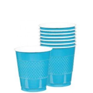 Ποτήρια πλαστικά 366ml Τυρκουάζ 10τεμ.