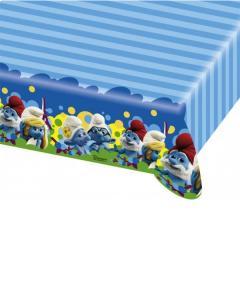 Τραπεζομάντηλο πλαστικό 1,8μ.x1,2μ. Στρουμφάκια 2