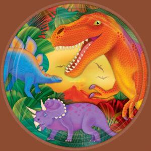 Πιάτα φαγητού 22.8εκ. Δεινόσαυροι 8τεμ.