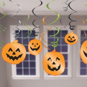 Κρεμαστή Διακόσμηση Κολοκύθες Halloween 12τεμ.