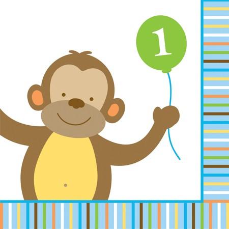 Χαρτοπετσέτες Γλυκού 1st Birthday Sweet at one boy 16τεμ