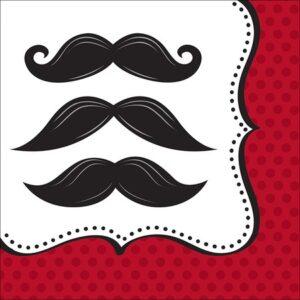 Χαρτοπετσέτες Φαγητού Mustache Μadness 16τεμ