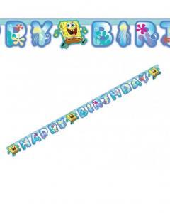 Γιρλάντα Happy Birthday Μπόμπ Σφουγγαράκης 1.80m