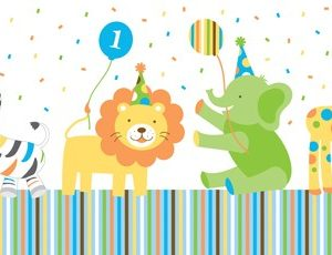 Τραπεζομάντηλο 1st Birthday Sweet at one boy 1τεμ