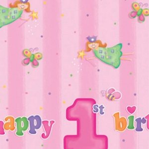 Tραπεζομάντηλο Happy 1st Birthday Fun at one girl 1τεμ