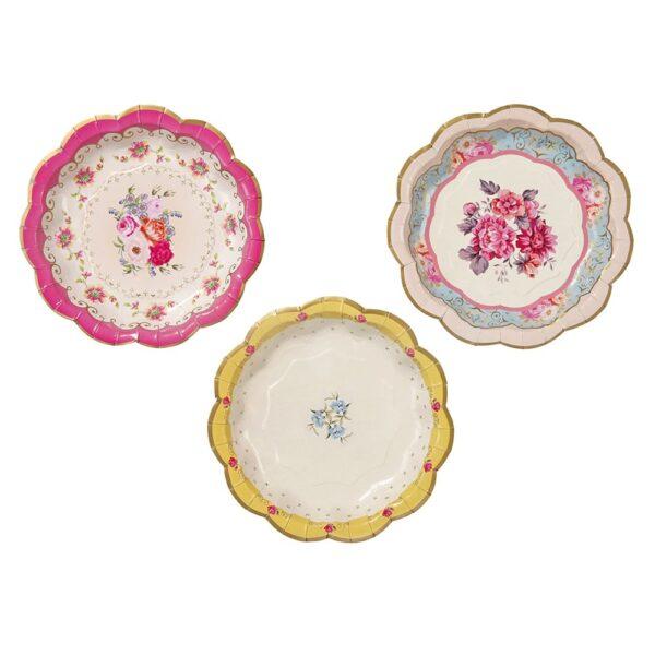 Πιάτα γλυκού 17εκ. Λουλούδι Truly Scrumptious 12τεμ.