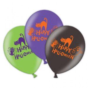 Μπαλόνια λάτεξ 3 χρώματα Happy Halloween 6τεμ.