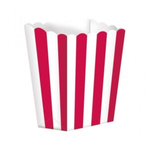 Κουτί Pop-Corn Ριγέ Κόκκινο 6,3x13.4x3.8cm 5τεμ.