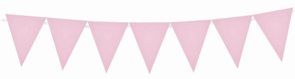 Γιρλάντα Τρίγωνα Σημαιάκια Πλαστική Ροζ 29εκ Χ 3,6μ  1τεμ