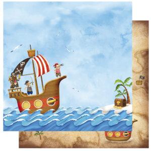 Χαρτί Scrapbooking 30,5x30,5εκ. Pirats