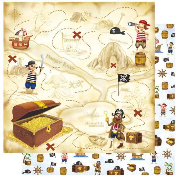 Χαρτί Scrapbooking 30,5x30,5εκ. Pirats Treasure