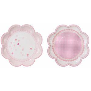 Πιάτο Φαγητού Ροζ σε σχήμα λουλουδιού 20εκ. 8τεμ