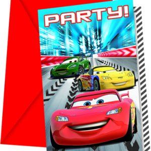 Προσκλήσεις με κοπτικό CARS RED