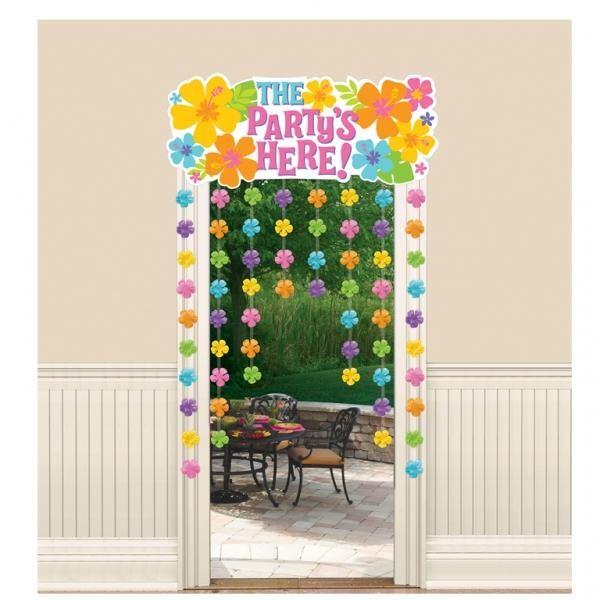 Κουρτίνα με λουλούδια The Party is Here 96.5x137cm 1τεμ