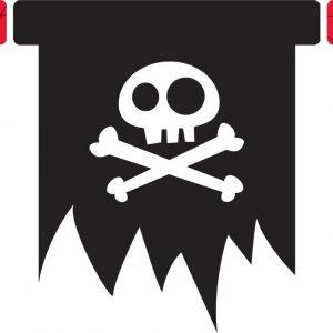 Γιρλάντες με κοπτικό 11 σημαιάκια Τζέικ & Πειρατές
