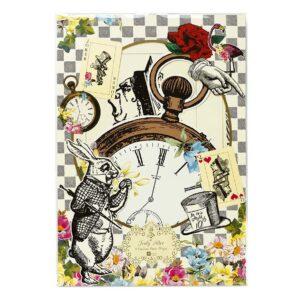 Διακοσμητικές κάρτες Truly Alice 8τεμ.
