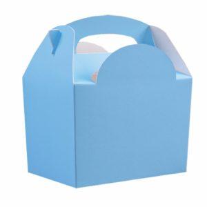 Χάρτινο Lunch box σιελ 8τεμ. 10x15x16εκ.
