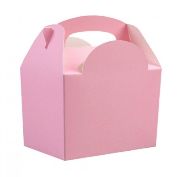 Χάρτινο Lunch box ροζ 8τεμ. 10x15x16εκ.