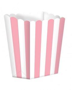 Κουτί Pop-Corn Ριγέ Ροζ 6,3x13.4x3.8cm 5τεμ.