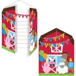 Προσκλήσεις  Farmhouse Fun 8τεμ