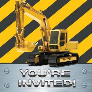 Προσκλήσεις Construction Birthday Zone 8τεμ