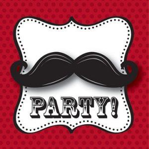 Προσκλήσεις Mustache Μadness 8τεμ