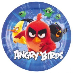 Πιάτα φαγητού Angry Birds Movie 8τεμ.
