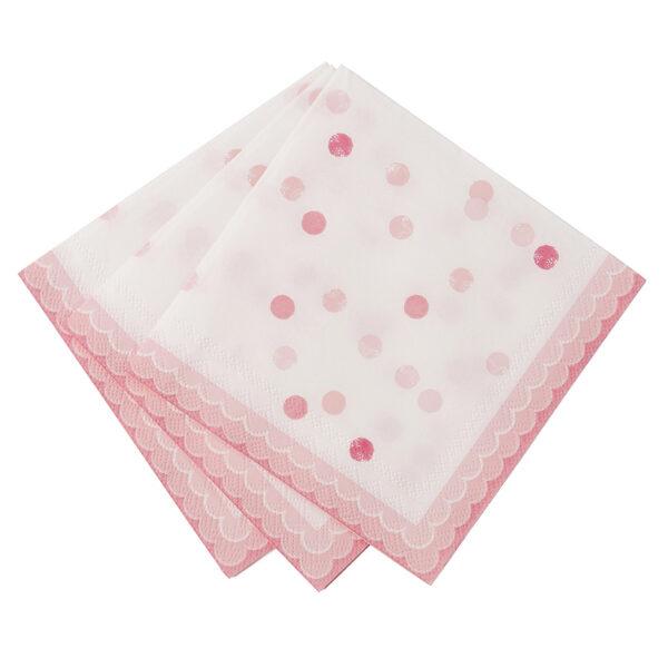 Χαρτοπετσέτες γλυκού ροζ 25Χ25 εκ. 20τεμ.