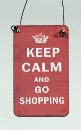 Mεταλλική Πινακίδα Keep Calm 5x8cm 1τεμ