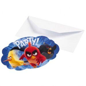 Προσκλήσεις Angry Birds Movie 8τεμ.