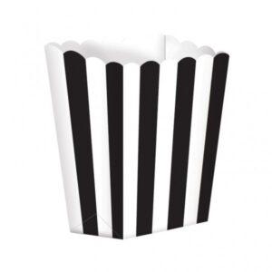 Κουτί Pop-Corn Ριγέ Mαύρο 6,3x13.4x3.8cm 5τεμ.