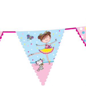 Γιρλάντα Τρίγωνα Σημαιάκια Μπαλαρίνα 3,6m 1τεμ