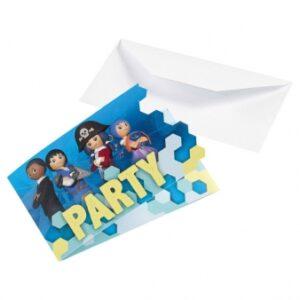Προσκλήσεις Playmobil Super4 8τεμ.