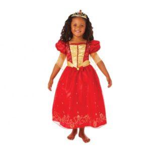 Στολή πριγκίπισσα Κόκκινη 3-5 ετών