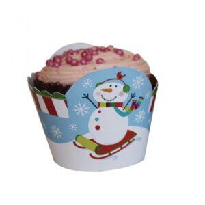 Κουτάκια για Cupcakes Joyful Snowman 12τεμ.