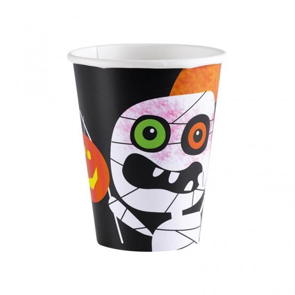 Ποτήρι χάρτινο 266ml Friendly Mummy Halloween 8τεμ.