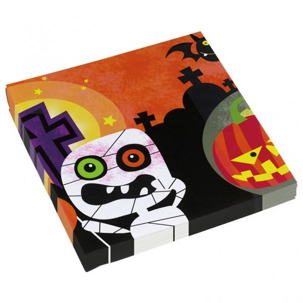 Χαρτοπετσέτα φαγητού Friendly Mummy Halloween 20τεμ.