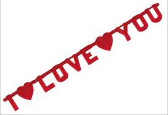 Γιρλάντα I LOVE YOU 17εκ. x 2,2μ. 1τεμ.