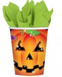 Ποτήρι χάρτινο 266ml Perfect Pumpkin Halloween 8τεμ.