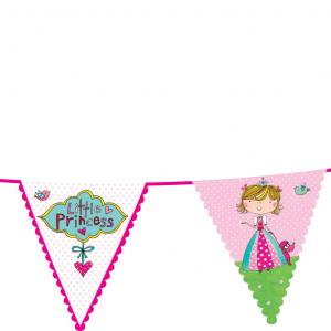 Γιρλάντα Τρίγωνα Σημαιάκια Birthday Princess 3,6m 1τεμ