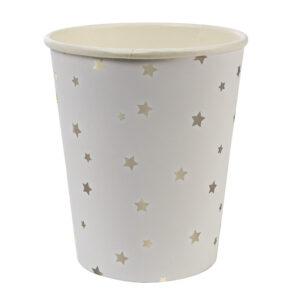 Ποτήρι χάρτινο Silver Star 8τεμ.