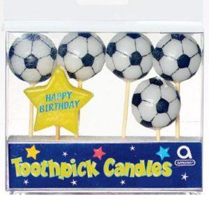Κεράκια Ποδοσφαιρική Μπάλα σε stick 6τεμ.
