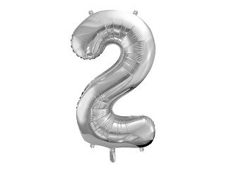μπαλόνι 2 ασημί